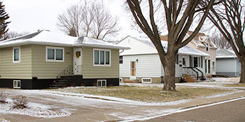 Typical homes found in the Holiday Park area of Saskatoon