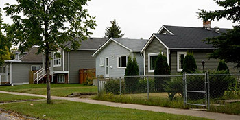 Typical homes found in the Mayfair area of Saskatoon