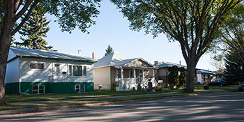 Typical homes found in the Sutherland area of Saskatoon