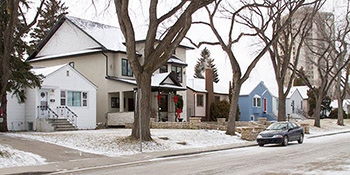 Typical homes found in the Varsity View area of Saskatoon