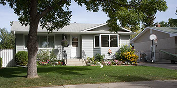 A typical home found in the Westview Heights area of Saskatoon